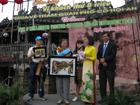 Welcome the 8 millionth visitor to Hoi An