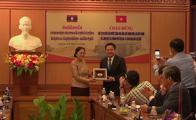 Chủ tịch quốc hội Lào thăm và làm việc tại Hội An